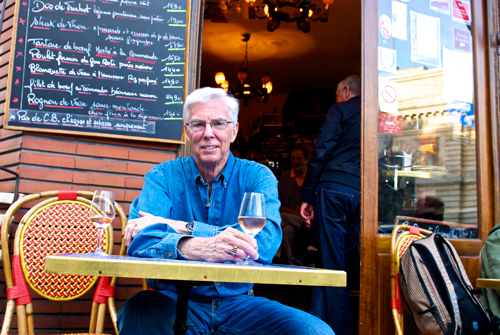 Scott Gibson at Café Les Pipos in Paris