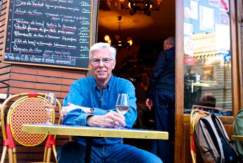 Scott Gibson at Café Les Pipos in Paris